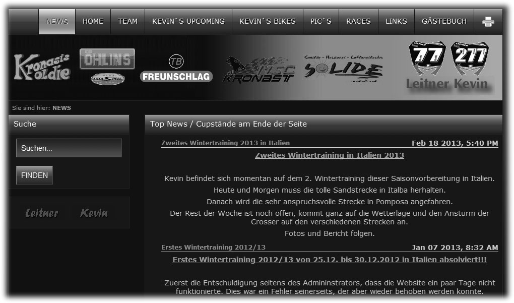 Kevin´s Homepage